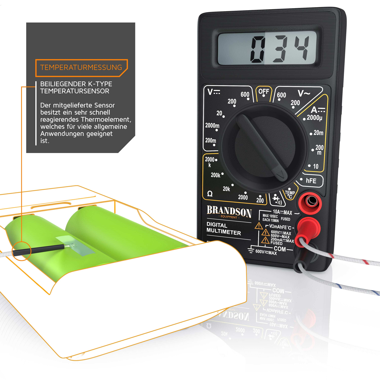 brandson digital multimeter voltmeter amperemeter ohmmeter. Black Bedroom Furniture Sets. Home Design Ideas