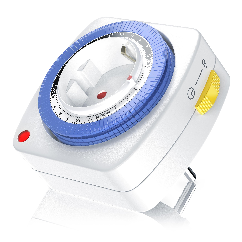 GS geprüft Bearware 24h mechanische Zeitschaltuhr 96 Segmente 3680W weiß